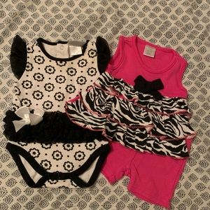 Black and white little girl outfits
